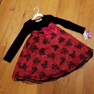 Blueberi Boulevard Black and Red Dress Size 6 NWT